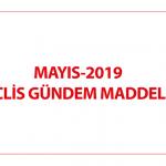 MAYIS-2019 MECLİS GÜNDEM MADDELERİ