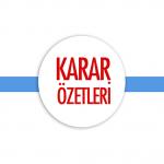 2019- MAYIS AYI OLAĞANÜSTÜ TOPLANTI KARAR ÖZETLERİ