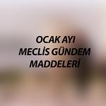 OCAK-2019 GÜNDEM MADDELERİ