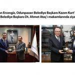Başkan Ercengiz, Odunpazarı Belediye Başkanı Kazım Kurt'u ve Tepebaşı Belediye Başkanı Dt. Ahmet Ataç'ı makamlarında ziyaret etti.