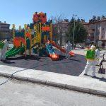 Oyun Parklarımızı Dezenfekte Ediyoruz