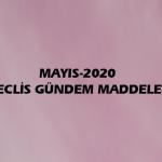 MAYIS-2020 MECLİS GÜNDEM MADDELERİ