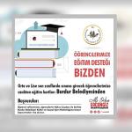 Orta ve lise son sınıflarda sınava girecek öğrencilere uzaktan eğitim kartları Burdur Belediyesi'nden