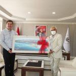 Başkan Şenel'den Başkan Ercengiz'e ziyaret